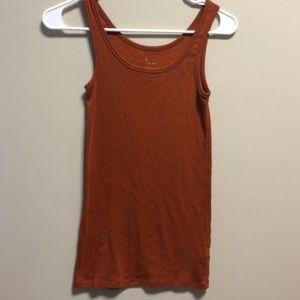 Burnt Orange Women's Small A New Day tank top